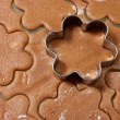 Baking Gingerbread Cookies — Stock Photo