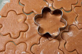Baking Gingerbread Cookies — Stock Photo
