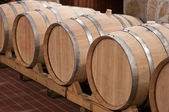 Wine Barrels in a Cellar — Foto de Stock