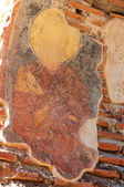 Fresco of a saint in the early Christian church — Stockfoto