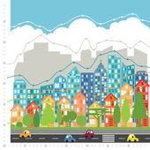 City chart infographic — Stock Vector