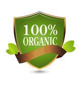 100 percent organic — Stock Vector