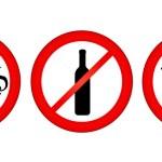 No smoking, no alcohol, no drugs — Stock Vector