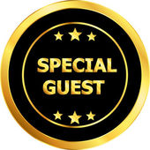 Special guest — Stock Vector
