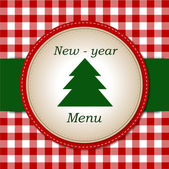 New-year Menu — Stock Vector