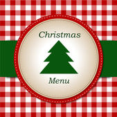 Christmas menu — Stock Vector