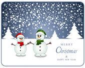 Snowman Christmas card — Stockvektor