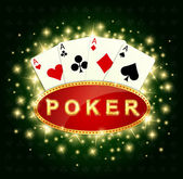 Poker — Stockvektor