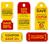 Coupons — Stock Vector