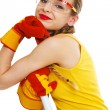 Stock Photo: Woman with Safety Glasses