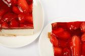Strawberry Fruit Cake Dessert — Stock Photo