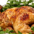 Cooked chicken with vegetables — Stock Photo