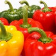 Miscellaneous colored peppers — Stock Photo