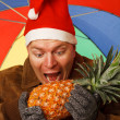 Man with pineapple. — Stock Photo #16265965
