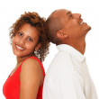 African American Couple Isolated On White — Stock Photo