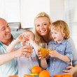 Stock Photo: Orange juice family