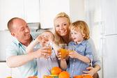 Orange juice family — Stock Photo