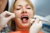 At the dentist. — Stock Photo