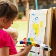 Pre-school children painting — Stock Photo