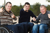 Disabled friends — Stock Photo