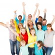 Large Group of Happy People standing together. — Stock Photo #43443045