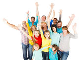 Large Group of Happy People standing together. — Stock Photo