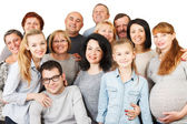 Large Group of Happy People smiling and embracing. — Stock Photo