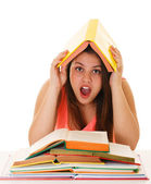 Burnt out from studying — Stock Photo