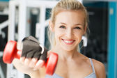 At the fitness club.Focus on women — Stock Photo