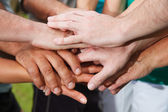 Human hands showing unity — Stock Photo