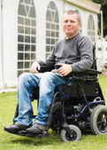 Disabled men in Wheelchair. — Stock Photo