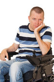 Portret of Young disabled man — Stock Photo