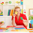 Pre-school children in the classroom with their teacher — Stock Photo #50061659