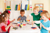 Preschoolers in the classroom — Stock Photo