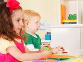 Pre-school children in the classroom — Foto Stock