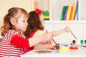 Preschoolers in the classroom — Stock Photo