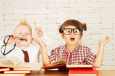 Children nerds — Stock Photo