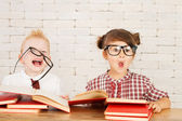 Children nerds — Stock Photo