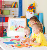 Pre-school children in the classroom  — Stock Photo