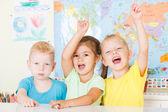 Happy preschoolers — Stock Photo