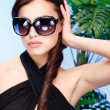 Woman with big sun glasses — Stock Photo #13922215
