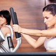 Women in gym center — Stock Photo