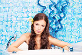 Woman in spa center — Stock Photo