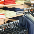 Clothing in the store — Stock Photo