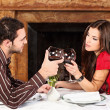 Couple holding glasses of wine — Stock Photo #22694817