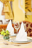 Detail of a nicely arranged table — Stock Photo