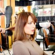 Customer in a hair salon — Stock Photo