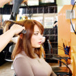 Stock Photo: Hairdresser makes a hair dress