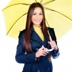 Woman holding umbrella — Stock Photo #30868585