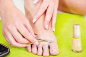 Feet beauty treatment — Stock Photo